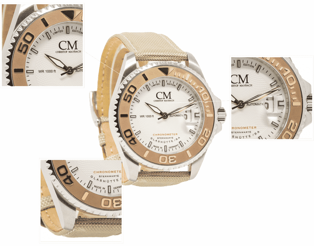 Maybach Uhr Canvas Leinen Variation